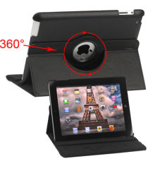 Apple iPad 2/3/4 360 Graden Case met Stand Zwart