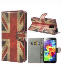 Samsung Galaxy S5 (Neo) Britse Vlag Wallet Stand Case