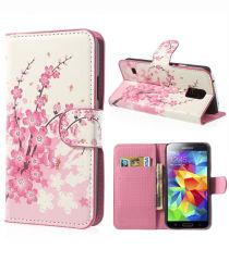 Samsung Galaxy S5 (Neo) Bloem Wallet Stand Case