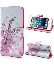 Apple iPhone SE / 5S Portemonnee Hoesje Print Bloesem