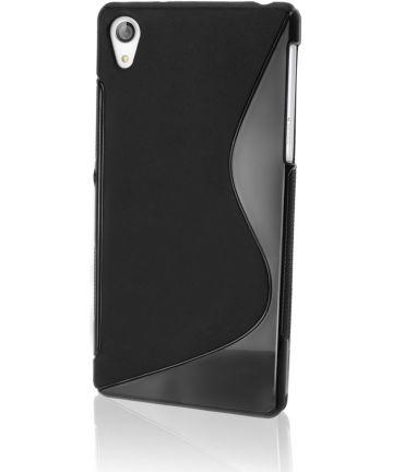 Sony Xperia Z3 TPU Case S-Shape - Zwart