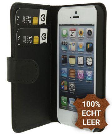 Valenta Classic Luxe iPhone 5/5S/SE Hoesje Leer Bookcase Zwart