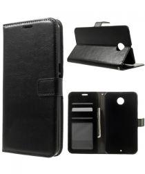 Motorola Nexus 6 Wallet Stand Case Zwart
