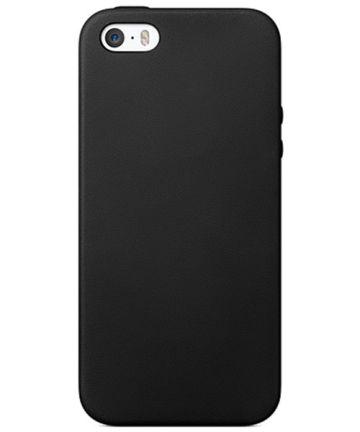 Apple iPhone SE en 5/5S TPU Back Cover Hoesje Zwart
