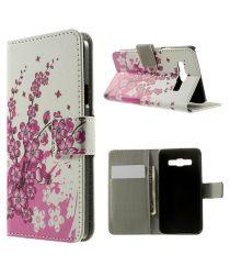 Samsung Galaxy A3 Wallet Flip Case Hoesje Bloesem