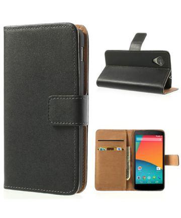LG Google Nexus 5 Wallet Case Zwart