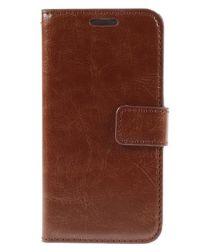 Samsung Galaxy S6 Crazy Horse Wallet Case Bruin