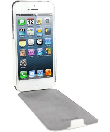 Muvit Apple iPhone SE 5/5S iFlip Case Hoesje Wit