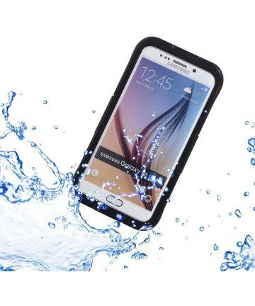 Samsung Galaxy S6 Edge Waterproof Plastic Silicone Case Zwart