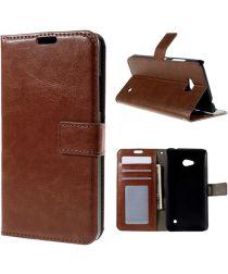 Microsoft Lumia 640 Crazy Horse Wallet Case Bruin