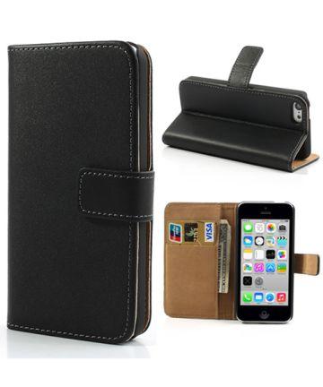 Apple iPhone 5C Wallet Stand Case Zwart