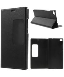 Huawei Ascend P8 View Window Flip Case Zwart