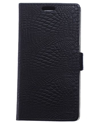 Huawei Ascend P8 Lite Crocodile Wallet Case Zwart