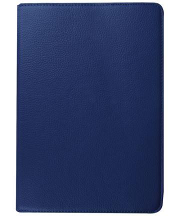 Samsung Galaxy Tab S2 (9.7) Lychee Rotary Stand Case Dark Blue