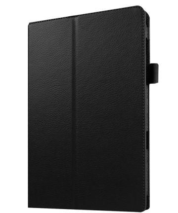 Samsung Galaxy Tab E 9.6 Litchi Skin Stand Case Zwart Hoesjes