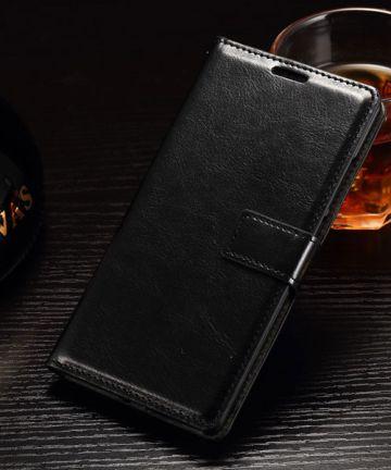 OnePlus 2 Crazy Horse Wallet Case Zwart