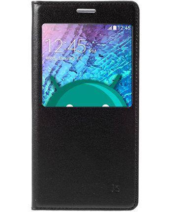 Samsung Galaxy J5 Window View Flip Hoesje Zwart