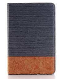 Apple iPad Mini 4 Texture Wallet Book Case Grijs