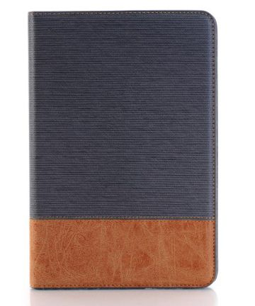Apple iPad Mini 4 Texture Wallet Book Case Grijs