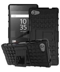 Sony Xperia Z5 Compact Anti-slip Back Cover Zwart