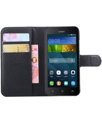 Huawei Y5 (Y560) Portemonnee Hoesje Zwart