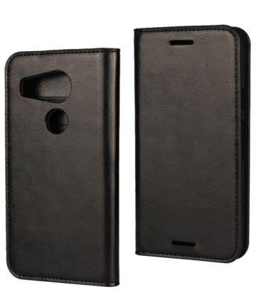 LG Nexus 5X Crazy Horse Portemonnee Hoes Zwart