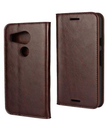 LG Nexus 5X Crazy Horse Portemonnee Hoes Brown Hoesjes