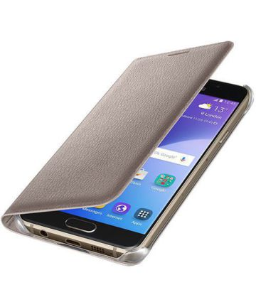 Officieel Samsung Galaxy A3 (2016) Portemonnee Hoesje Goud