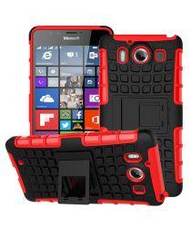 Microsoft Lumia 950 Hybrid Kickstand Back Cover Rood