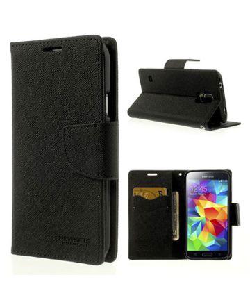 Samsung Galaxy S5 Mercury Fancy Diary Wallet Case Zwart