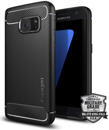 Spigen Rugged Armor Case Samsung Galaxy S7 Zwart Hoesjes