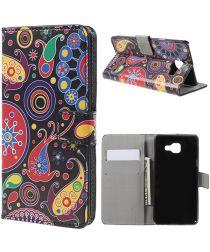 Samsung Galaxy A5 (2016) Flip Hoesje met Print Paisley Pattern