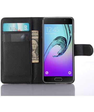 Samsung Galaxy A3 (2016) Portemonnee Hoesje Zwart