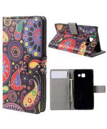 Samsung Galaxy A3 2016 Portemonnee Hoesje Retro Patroon Print