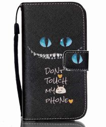 Samsung Galaxy S4 Mini Portemonnee Flip Hoesje Don't Touch My Phone