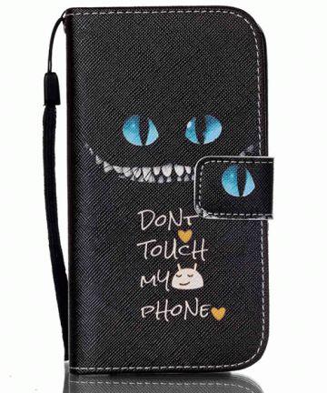 Samsung Galaxy S4 Mini Portemonnee Flip Hoesje Don't Touch My Phone Hoesjes