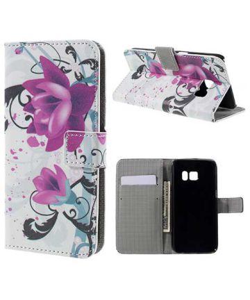Samsung Galaxy S7 Wallet Hoesje Print Bloemen Lotus