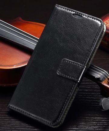 Samsung Galaxy S7 Bookcase Flip Hoesje Met Pasjes Zwart