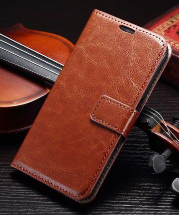 Samsung Galaxy S7 Bookcase Flip Hoesje Met Pasjes Bruin