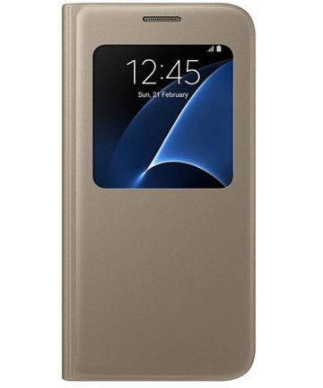 Samsung Galaxy S7 S-View Cover Goud Origineel