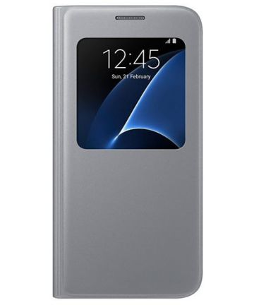 Samsung Galaxy S7 S-View Cover Zilver Origineel