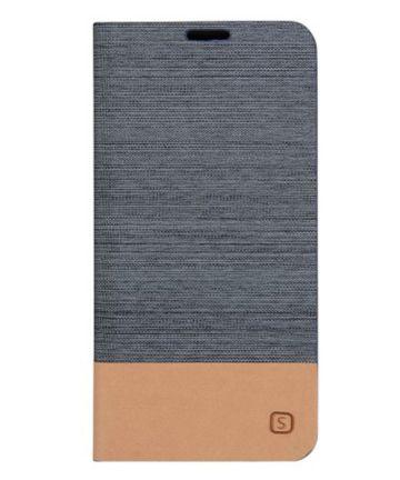 Samsung Galaxy A5 2016 Portemonnee Flip Hoesje Dark Gray