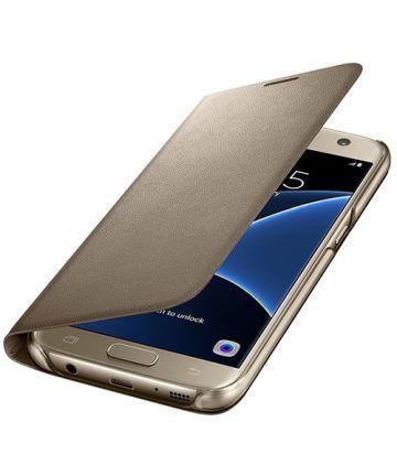 Samsung Galaxy S7 Portemonnee Hoesje Goud Origineel