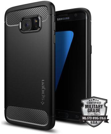 Spigen Rugged Armor Samsung Galaxy S7 Edge Hoesje Zwart Hoesjes