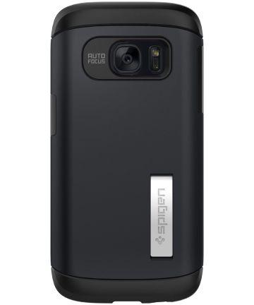 Spigen Slim Armor Case Samsung Galaxy S7 Metal Slate Hoesjes