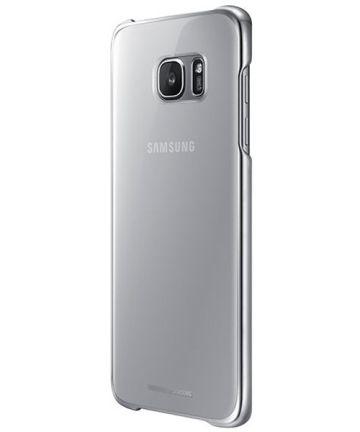 Samsung Galaxy S7 Edge Clear Cover Zilver Origineel Hoesjes