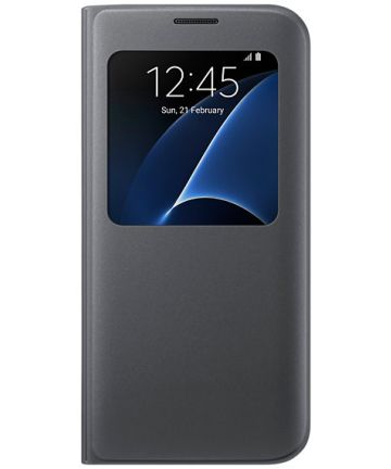 Samsung Galaxy S7 Edge S-View Cover Zwart Origineel