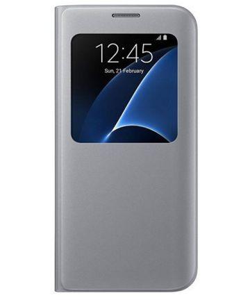 Samsung Galaxy S7 Edge S-View Cover Zilver Origineel Hoesjes
