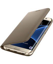 Samsung Galaxy S7 Edge Portemonnee Hoesje Goud Origineel