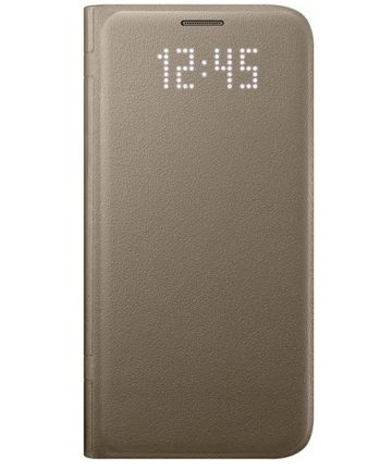 Samsung Galaxy S7 Edge Led View Hoesje Goud Origineel